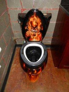 Airbrush-toilet